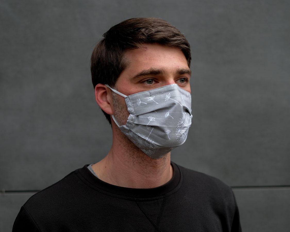 Sejas maska ar filtra kabatu un fiksatoru. Dažādas krāsas.