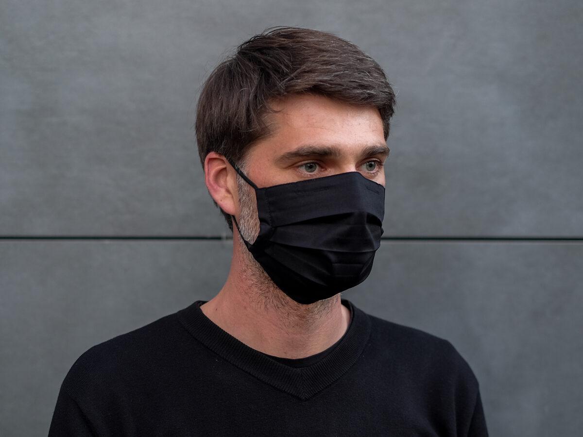 Kokvilnas sejas maska ar filtra kabatu un fiksatoru. Dažādas krāsas.