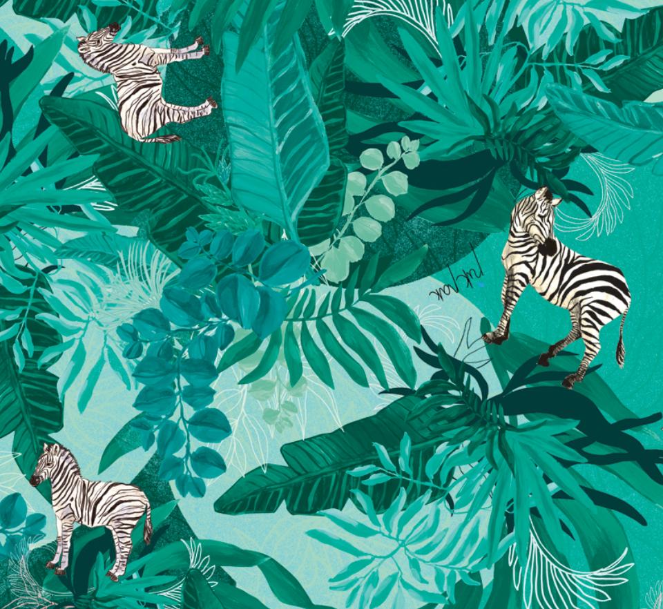 Ratu lietus plēve: Mint Zebras